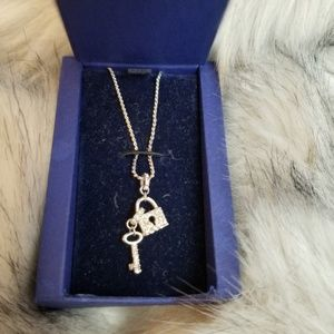 Swarovski lock and key pendant necklace